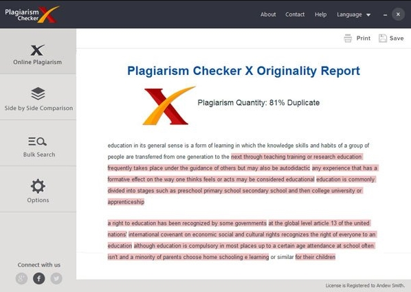 Plagiarism Checker X Free Download