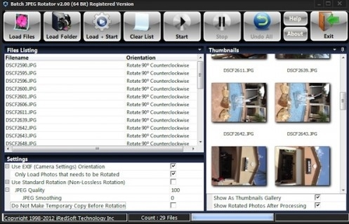 Batch JPEG Rotator 2.40 Download Free