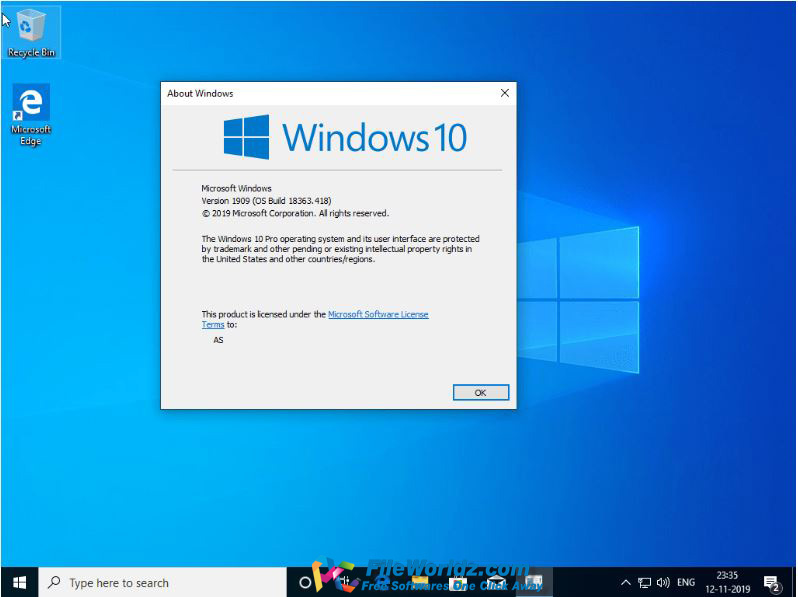 Windows 10 Pro included Office 2019 Mar 2020