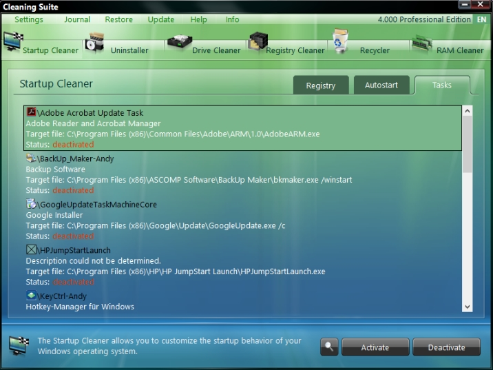 Ascomp Cleaning Suite Free Download
